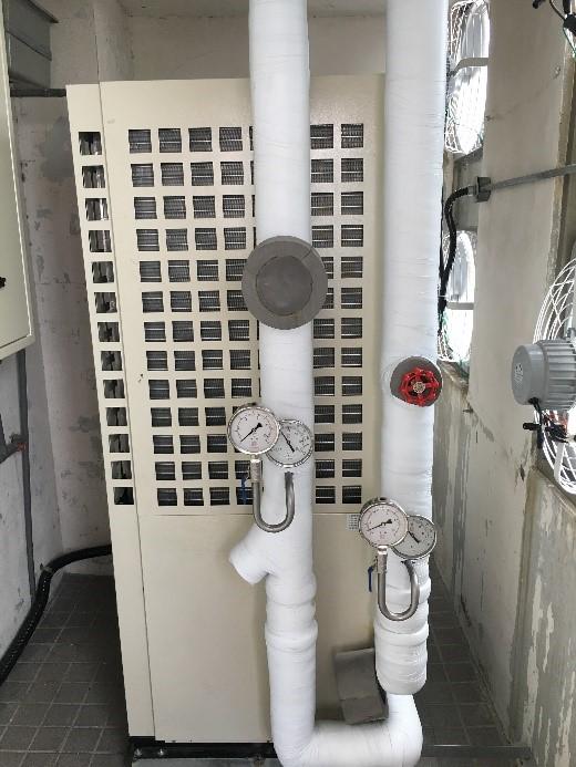 更換氣冷式冰水機組 施工後