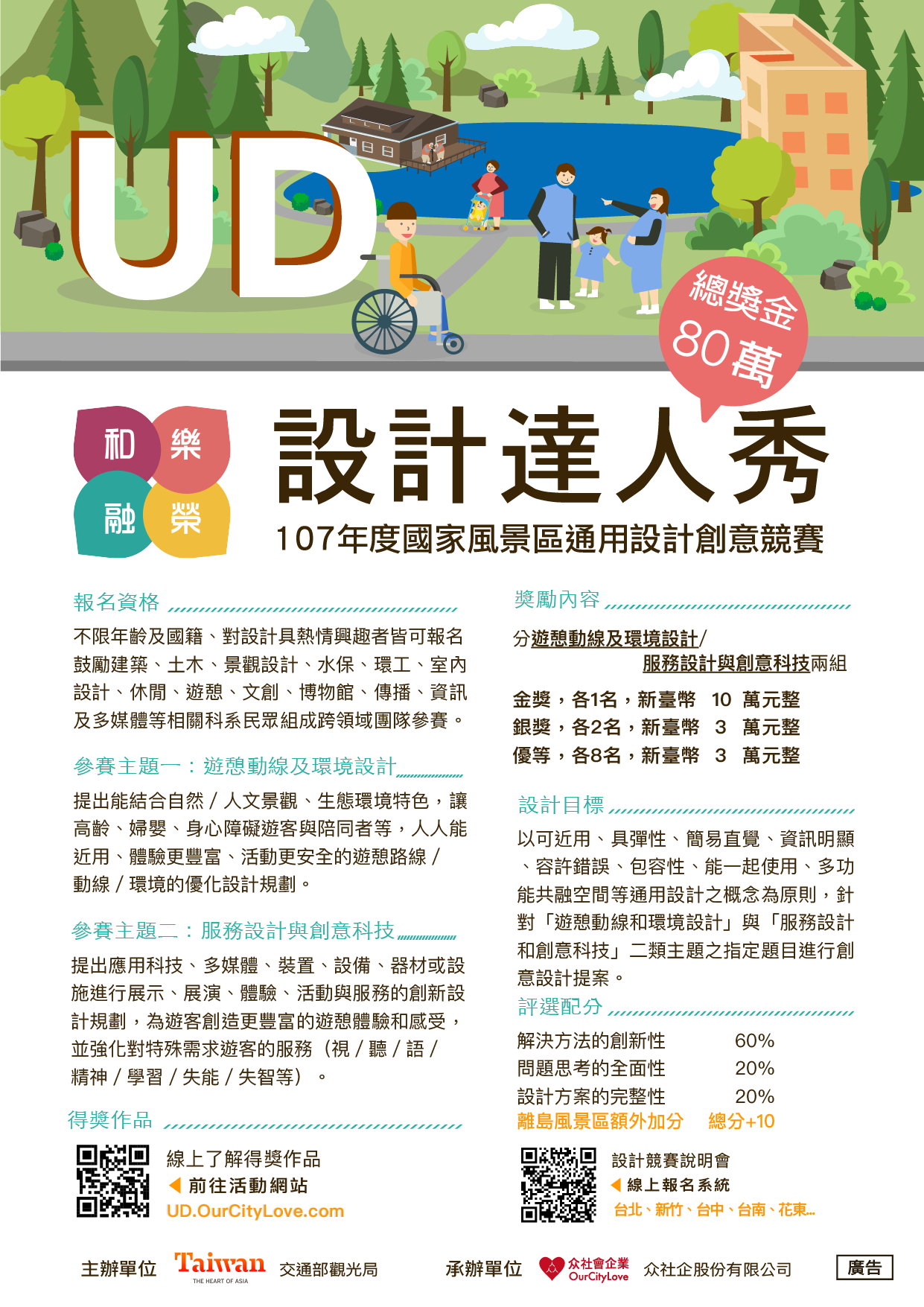 107年度國家風景區通用設計創意競賽海報